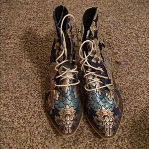 Patterned Boots.